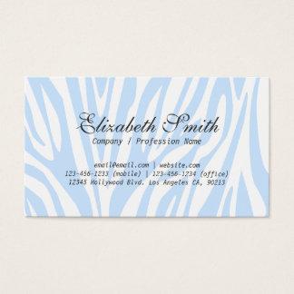 Einfache hellblaue Zebra-Mod-Geschäfts-Karte Visitenkarte