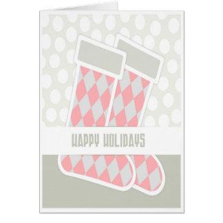 Einfache helle Strumpf-Weihnachtskarte Karte