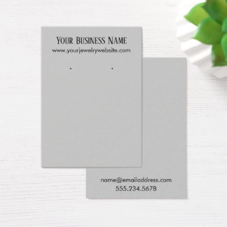 Einfache hellgraue Ohrring-Halter-Anzeigen-Karten Visitenkarte