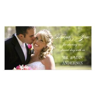 Einfache Hochzeit danken Ihnen Foto Karten