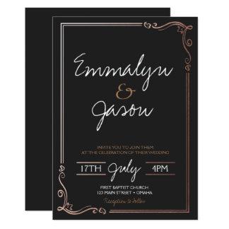 Einfache Hochzeits-Einladung Karte