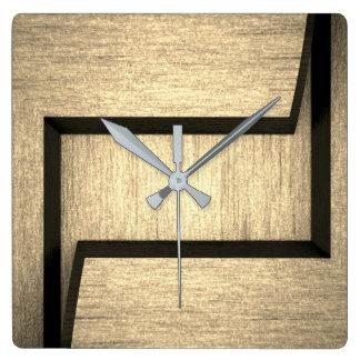 Einfache hölzerne Entwurfs-Wanduhr Quadratische Wanduhr