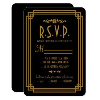 Einfache Kunst-Deko-Schwarz-Hochzeits-Wartekarten 8,9 X 12,7 Cm Einladungskarte