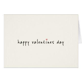 Einfache leere glückliche Valentinstag-Unisexkarte Karte