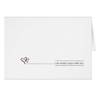Einfache Liebeanmerkungen Grußkarte