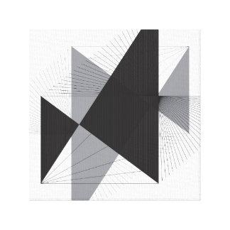 Einfache Linien und Dreiecke auf Leinwand
