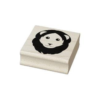 Einfache Löwe-Gesichts-Gummi-Briefmarke Gummistempel