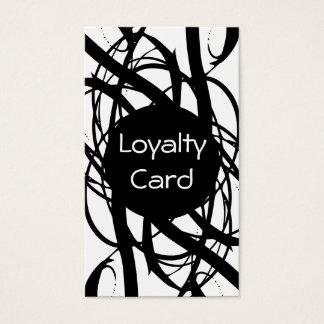 Einfache Loyalitäts-Lochkarte Visitenkarten