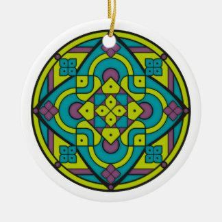 Einfache Mandala 1 Keramik Ornament