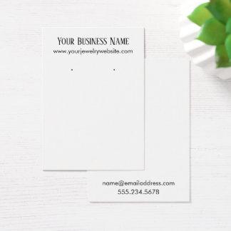 Einfache minimale weiße visitenkarte