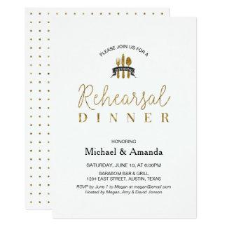 Einfache moderne 12,7 x 17,8 cm einladungskarte