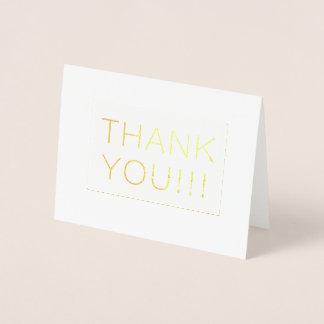 Einfache moderne danken, die Ihnen, danken Wedding Folienkarte