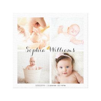 Einfache, moderne Foto-Baby-Kinderzimmer-Collage Leinwanddruck