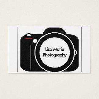 Einfache moderne Kamera-Fotografie Visitenkarte