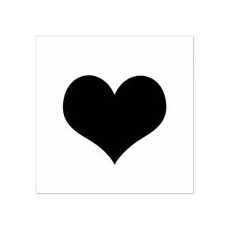 Einfache moderne romantische Herz-Liebe Gummistempel
