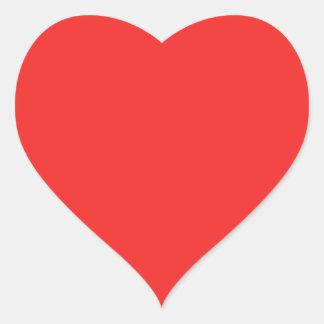 Einfache ROTE ROSA LILA Schatten Herz-Aufkleber