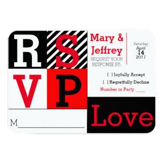 Einfache rote und gestreifte Foto-Hochzeit UAWG 8,9 X 12,7 Cm Einladungskarte