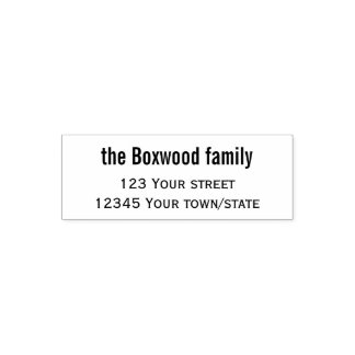Einfache Rücksendeadresse-Familie Permastempel