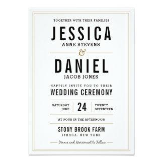 Einfache rustikale Hochzeits-Einladung - Karte