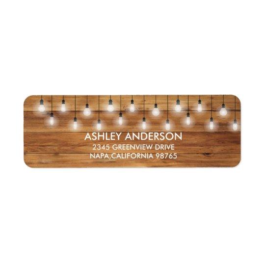 Einfache rustikale Hochzeits-Holz-Lichter