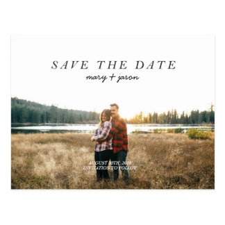 Einfache Save the Date Postkarte