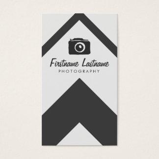 Einfache schwarze u. weiße Fotografie Visitenkarten