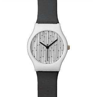 Einfache schwarze u. weiße Linie Musteruhr Uhr