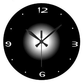 Einfache Schwarzweiss >Kitchen Uhr