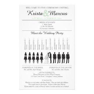 Einfache Silhouetten, die Programm Flyer-2 Wedding 14 X 21,6 Cm Flyer