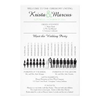 Einfache Silhouetten, die Programm Flyer-5 Wedding 14 X 21,6 Cm Flyer