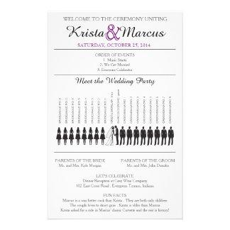 Einfache Silhouetten, die Programm Flyer-8 Wedding Flyer