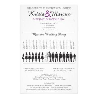 Einfache Silhouetten, die Programm Flyer-9 Wedding 14 X 21,6 Cm Flyer