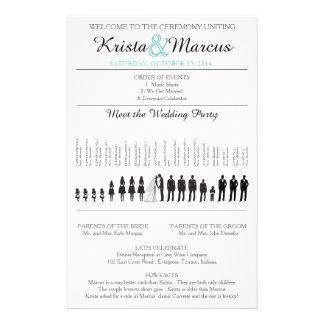 Einfache Silhouetten, die Programm-Flyer Wedding 14 X 21,6 Cm Flyer