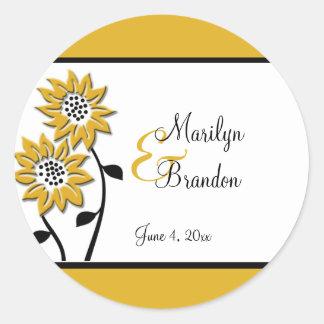 Einfache Sonnenblumen 1 5 runder Hochzeits-Aufkle