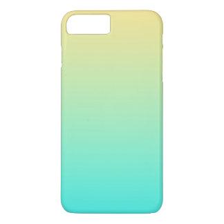 Einfache Steigungs-gelber PastellTürkis iPhone 7 Plus Hülle