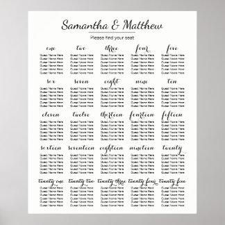 Einfache u. schicke Hochzeit - mehr setzendes Poster