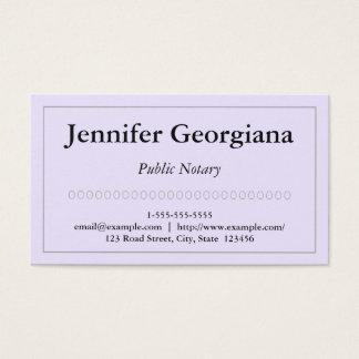 Einfache und einfache allgemeine visitenkarte