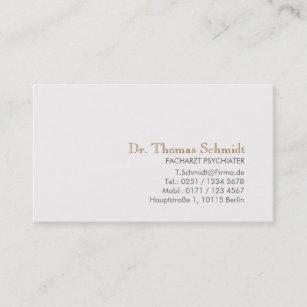 Einfache Und Elegante Berufliche Psychiater Visitenkarte