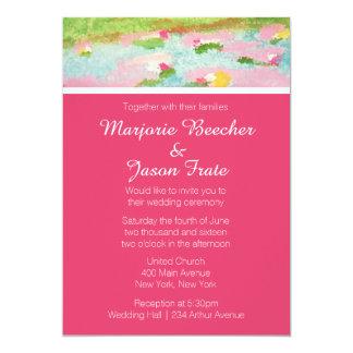 Einfache Watercolor-Lilien, die Einladungs-Rosa 12,7 X 17,8 Cm Einladungskarte