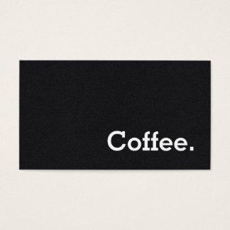 Einfache Wort-Schwarz-Loyalitäts-Kaffee-Lochkarte Visitenkarte