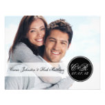 Einfacher doppelter Monogramm-Foto-Hochzeits-Empfa