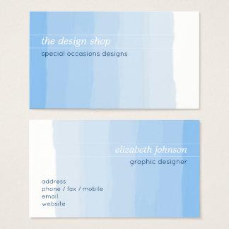 Einfacher eleganter einfacher blauer visitenkarte