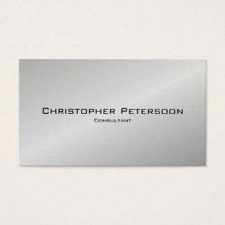 Einfacher eleganter klassischer silberner visitenkarte