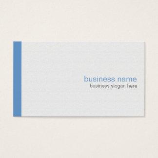 Einfacher eleganter moderner einfacher blauer visitenkarte