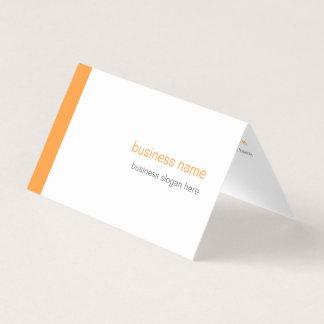 Einfacher eleganter moderner einfacher orange visitenkarten