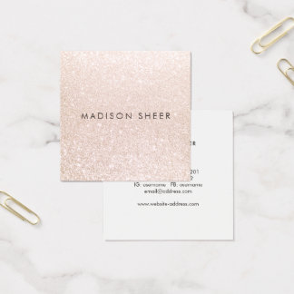 Einfacher eleganter quadratische visitenkarte