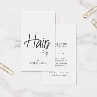 Einfacher eleganter Schwarz-weißer Visitenkarte
