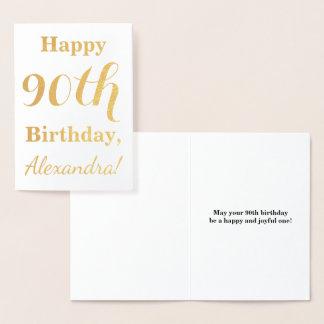 Einfacher Goldfolien-90. Geburtstag + Folienkarte