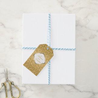 Einfacher GoldGlitzer mit Funken Geschenkanhänger