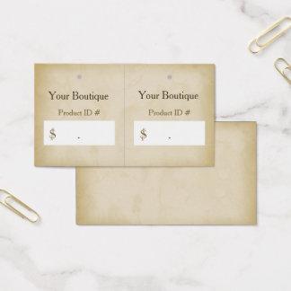 Einfacher Goldgrunge-moderne Butike-Fall-Umbauten Visitenkarte